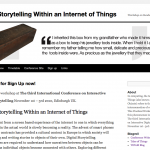 IoT Digital Storytelling Workshop